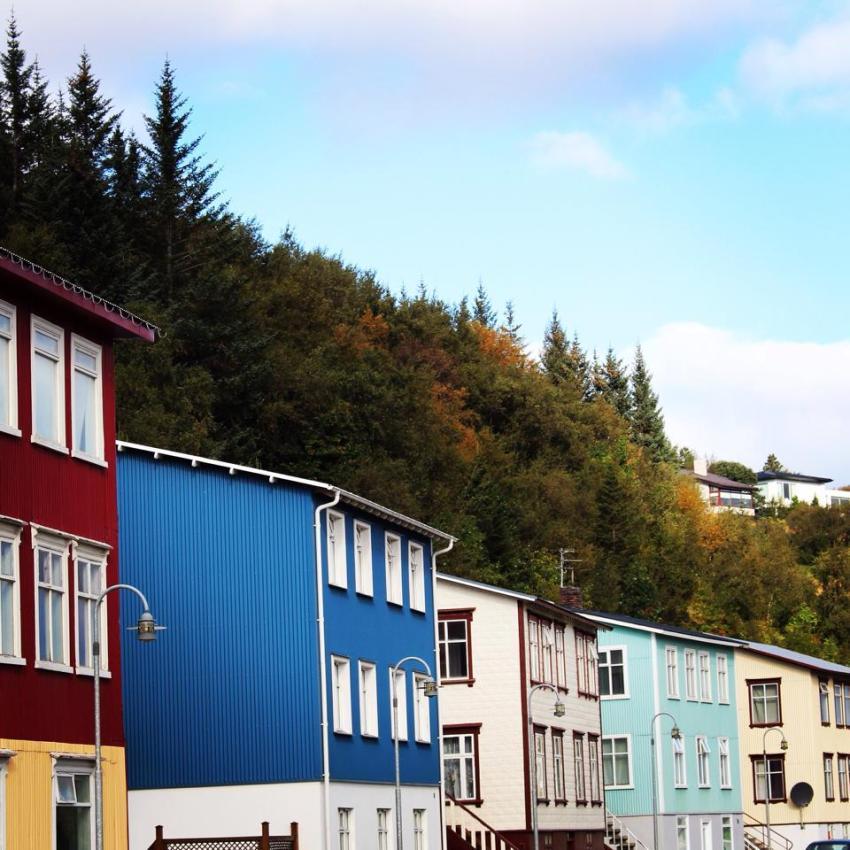 maison colorées akureyi