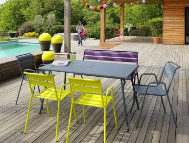 terrasse design colorée